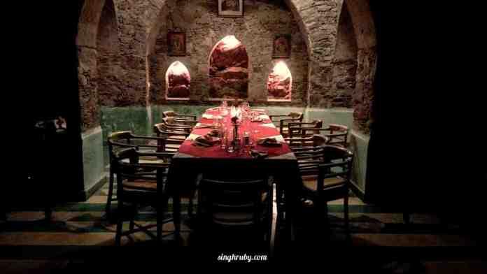 Dinner Buffet at Neemrana Fort Palace