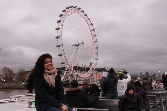 With the magnificent London Eye