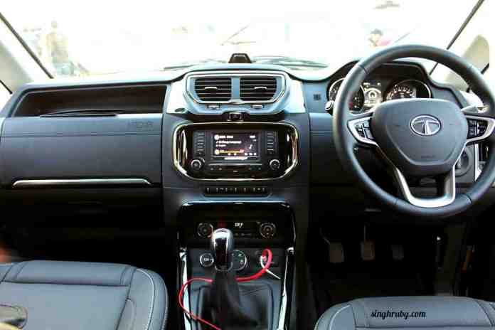 touch-screen-console-of-tata-hexa