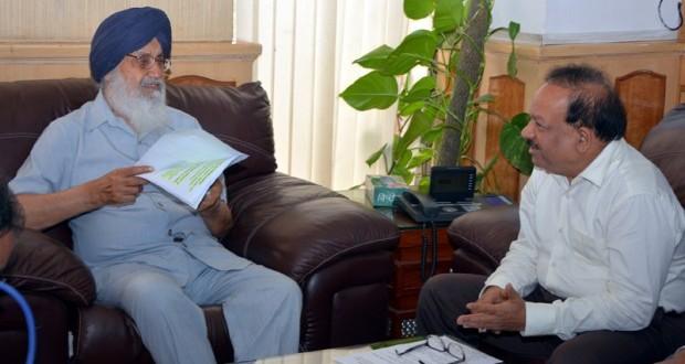 prakash-singh-badal-meeting-dr-harshvardhan