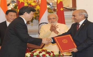 India-China-Sign-MOU
