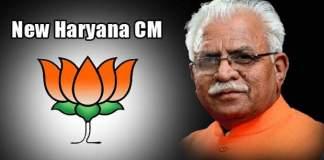 Manohar Lal Khattar is new Haryana CM