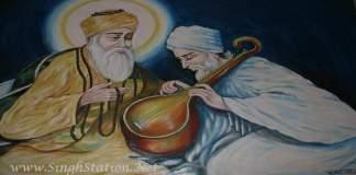 Guru Nanak Sahib with bhai mardana
