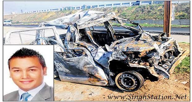 satnam-singh-hockey-player-car-fire