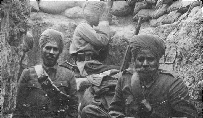 Sikhs of the 21st Indian Infantry Brigade at Gallipoli in 1915