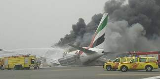 Emirates plane crash Dubai