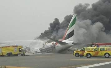 Emirates plane crash Dubai