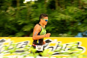 Jonard Saim approaching the finish line.