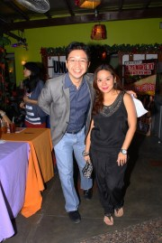 RJ Ledesma, editor-in-chief of UNO Magazine with Marcie Linao of Love and Light Productions.