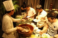 Bloggers were treated with sumptuous dinner.
