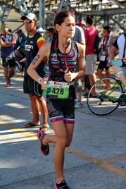 Chezka Borlain dismounted her bike and transitioning to run 2KM before finishing the race.