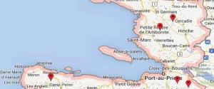 map green coffee from haiti coffee sector