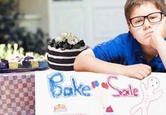 Do a bake sale right - involve attendees.
