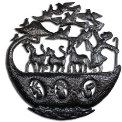 Noah's Ark Haitian art, recycled metal