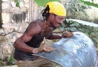 Upcycled oil drum art, Haiti
