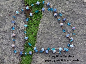 blue necklace glass