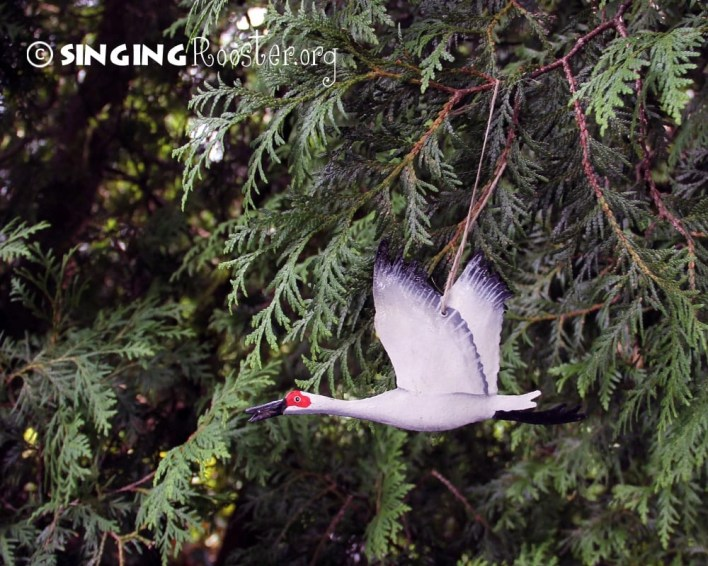 Christmas crane ornaments