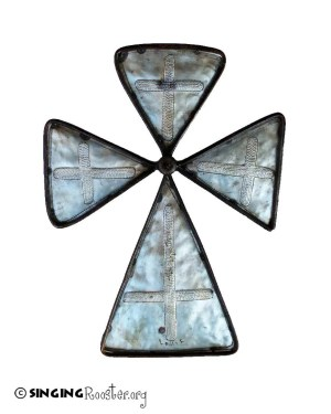 greek metal cross
