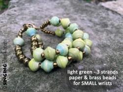 green brass bracelet haiti