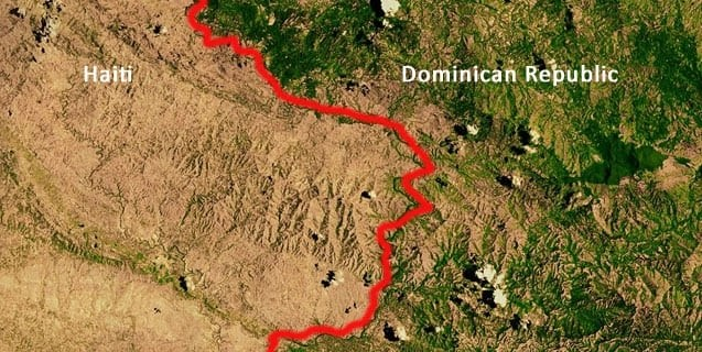 Nasa photo of Haiti's deforestation