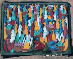 Buy Haitian painting online - red dresses