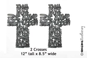 word art cross, Isiah 49, I will not forget