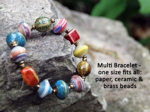 multi bracelet haiti ceramic