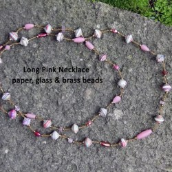 pink necklace glass