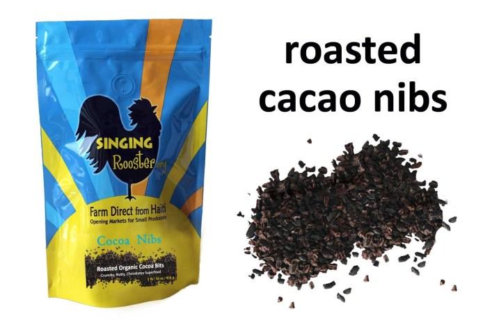 shop organic cacao cocoa nibs, Haiti