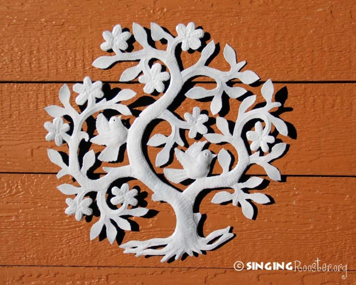 tree of life metal wall art, Haiti