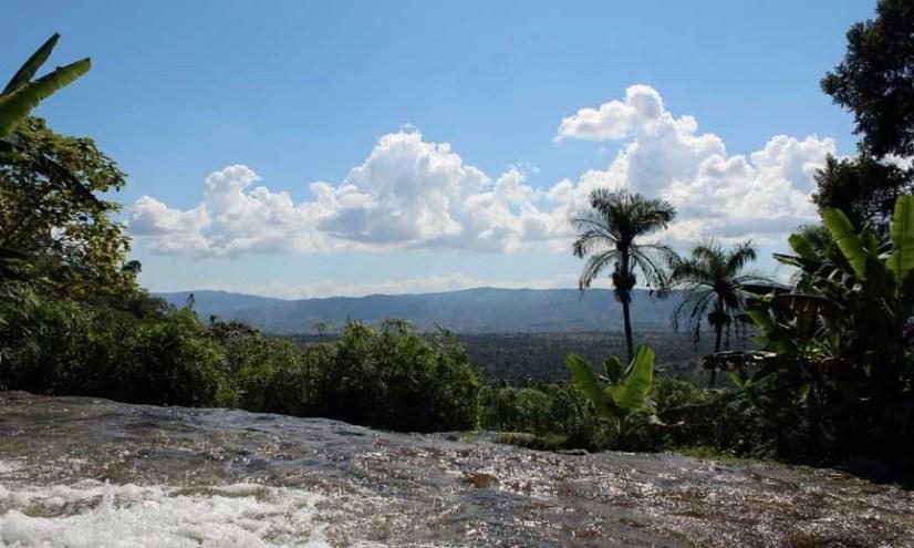 view saut eau waterfall haiti