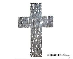 buy word art metal cross from Haiti online