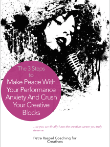 Performance anxiety and creative blocks