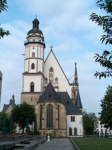 St. Thomas Church in Leipzig where J. S. Bach served