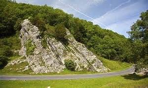gorge of Burrington Combe in the Mendip Hills in England