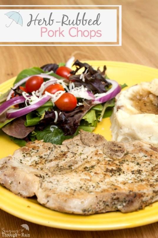 Herb-Rubbed Pork Chops