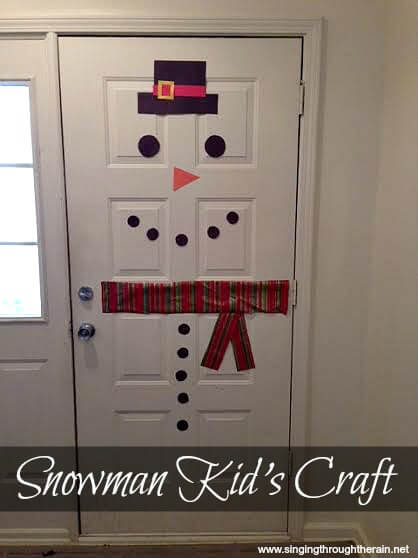 Snowman Kid's Craft