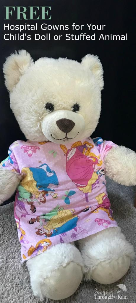 Free Hospital Gowns for Your Child's Doll or Stuffed Animal