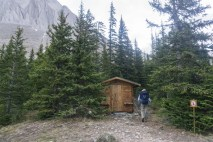 Arriving at the hut.