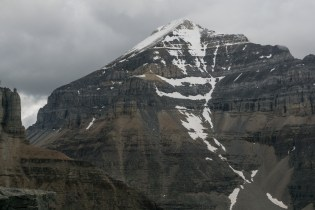 This shows the West Ridge approach for Mount Temple.