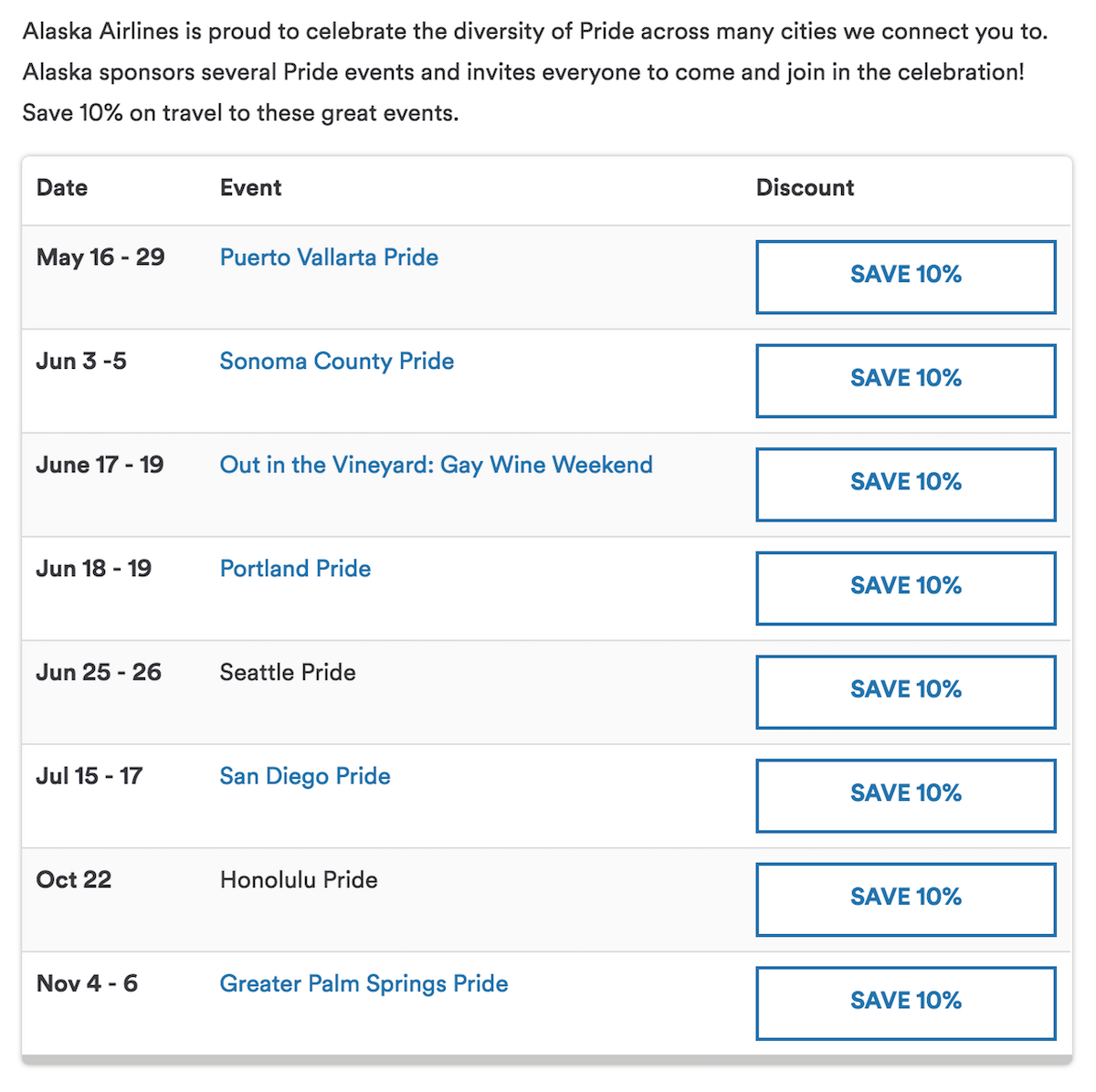 Alaska Airlines Uber Pride Contest - SingleFlyer
