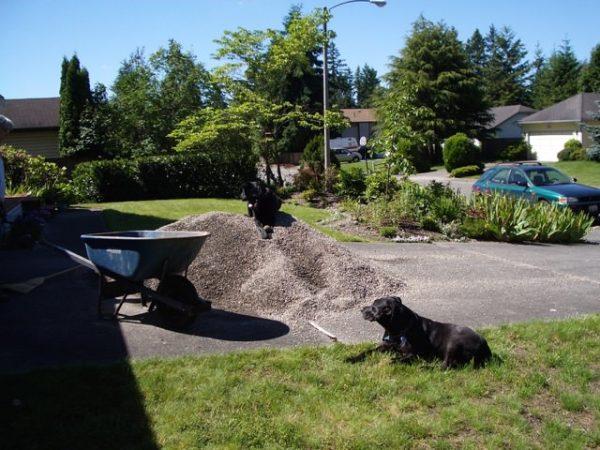 Installing gravel patio