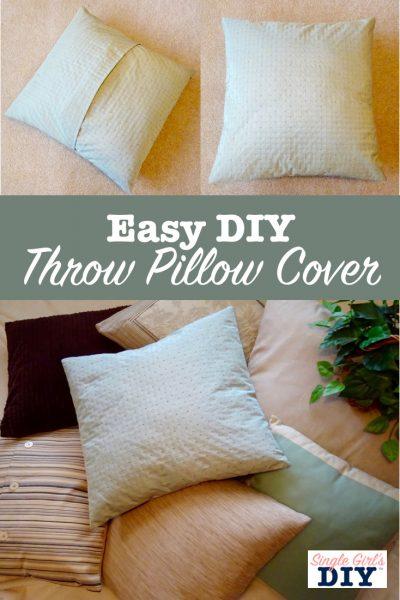 diy throw pillow cover