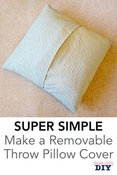 removable throw pillow cover