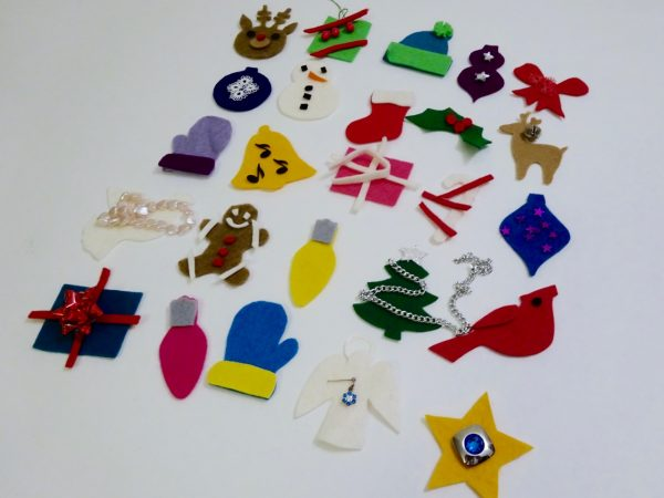 Trimming advent pieces