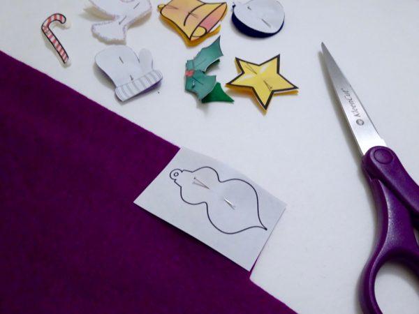 Cut pieces for advent calendar