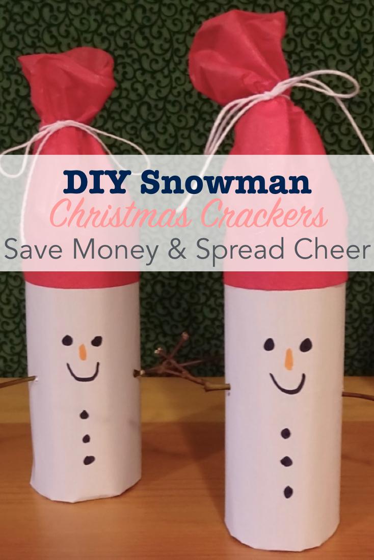 DIY Snowman Christmas Crackers