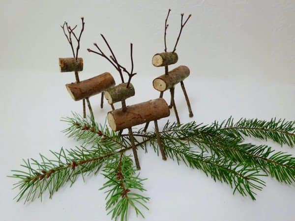 Make reindeer out of sticks