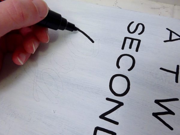 Make a painted word sign