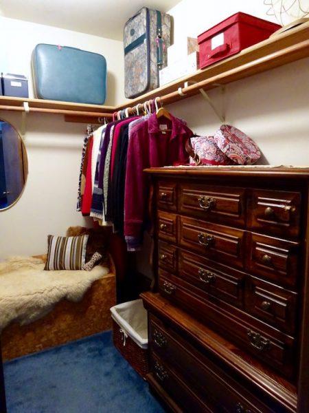 Dresser in closet